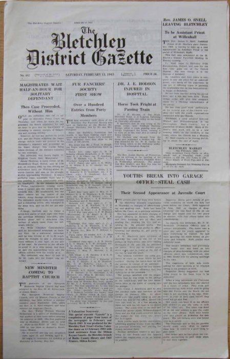 Bletchley District Gazette Souvenir edition, 1993