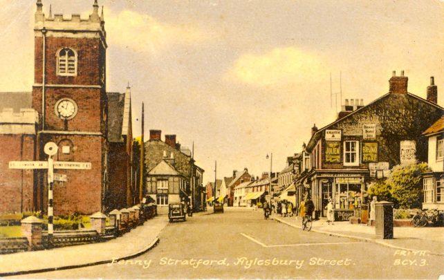 Postcard of Aylesbury Street