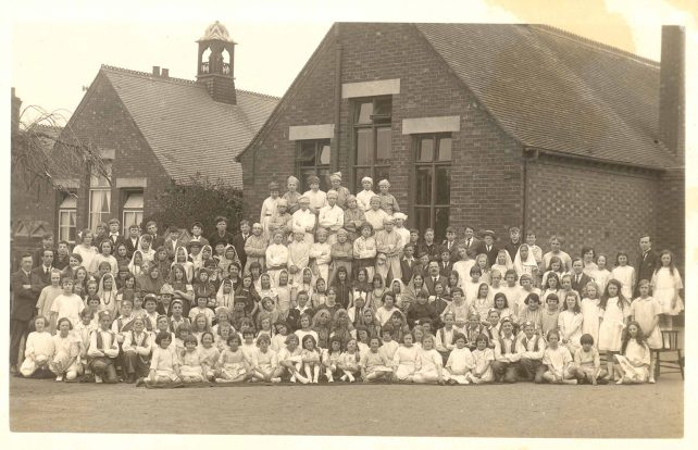 Schoolchildren in costume