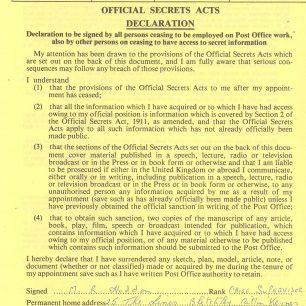 Official Secrets Act Declaration