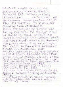 Life history of Mr James Garner