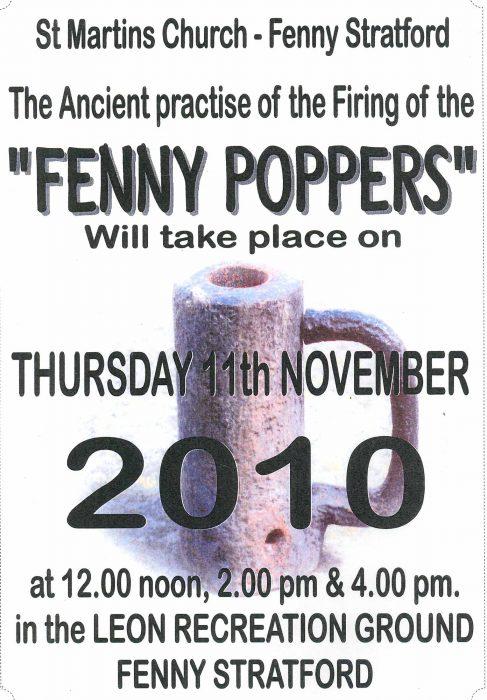 Fenny Poppers Firing 2010