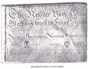 Register of Saint Martin's Chapell