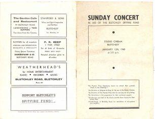 Concert programme Jan 1940