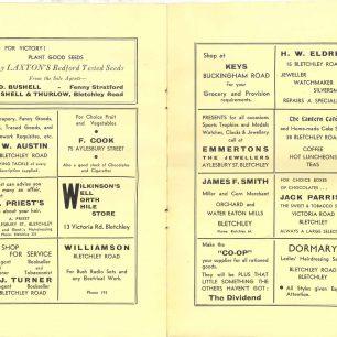 Concert programme Dec 1940