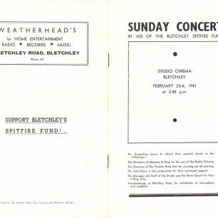 Concert programme Feb 1941