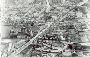 Aerial view of Fenny Stratford looking west