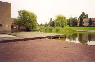 Bletchley Leisure Centre with pond