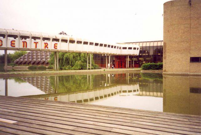 Bletchley Leisure Centre with bridge