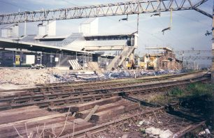 Bletchley Railway Station - demolition
