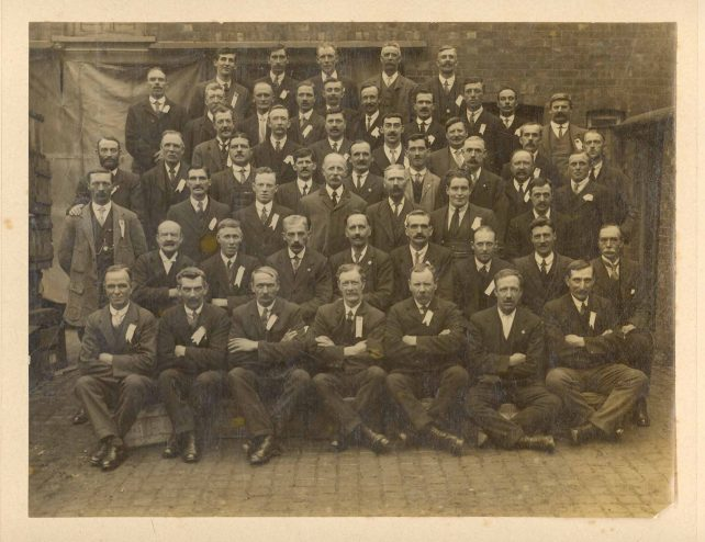 Group of about fifty men