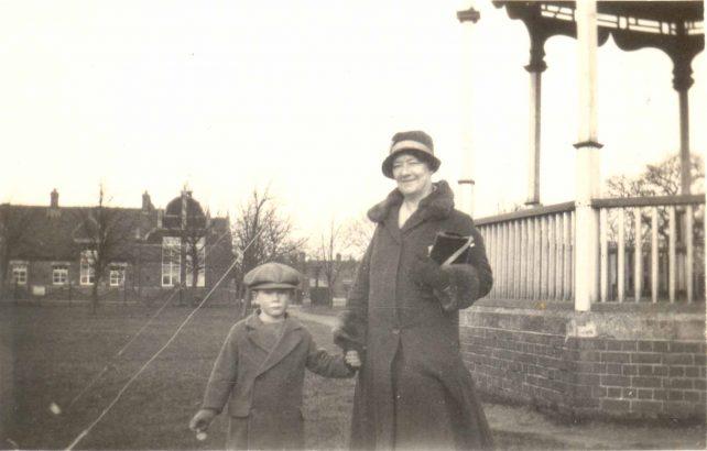 Peter Corden and aunt in Leon Rec