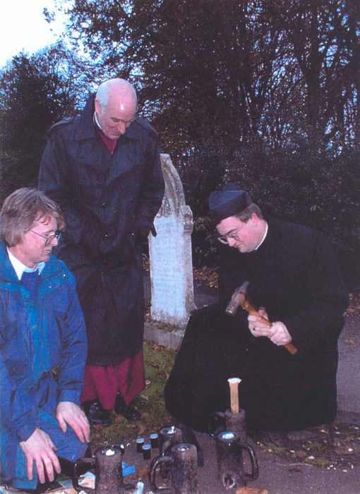 Peter White and Fr. Victor preparing the Fenny Poppers