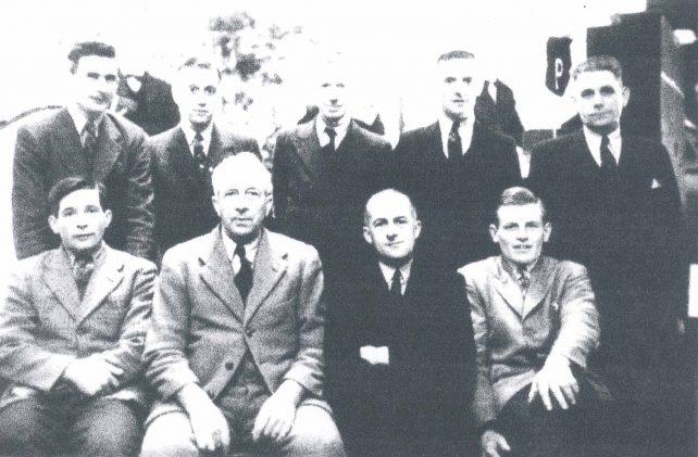 Group of nine men