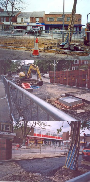 Three photos of Queensway as it was developed