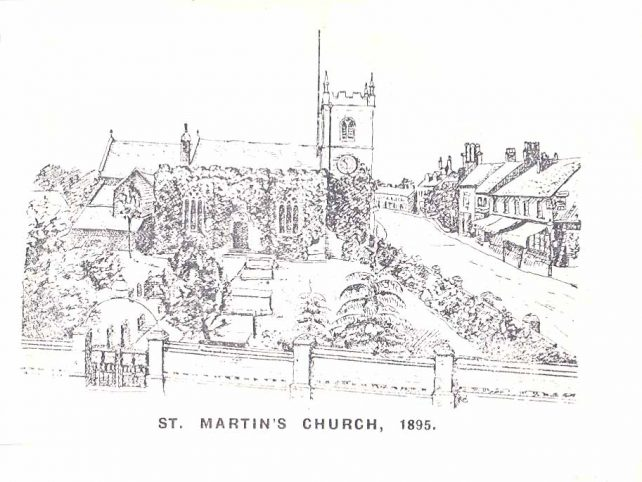 St. Martin's Church - pencil sketch