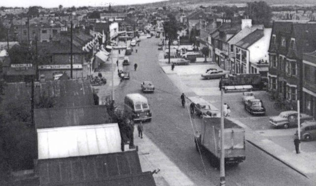 View of Bletchley Rd from flyover railway bridge