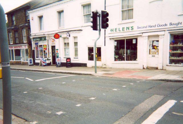 Aylesbury St. Fenny Stratford at pedestrian crossing