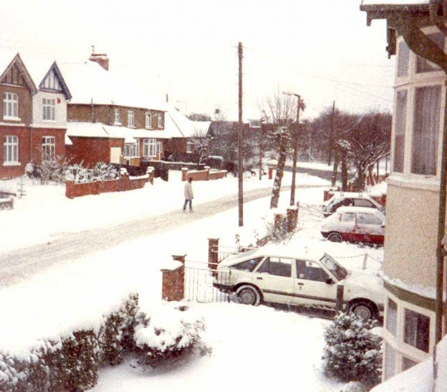 Eaton Avenue in the snow