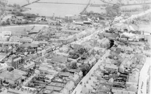 Aerial view of Fenny Stratford looking east