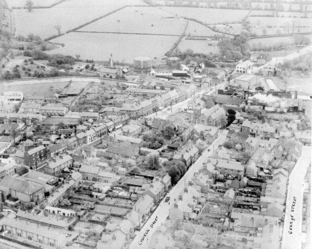Aerial view of Fenny Stratford looking east
