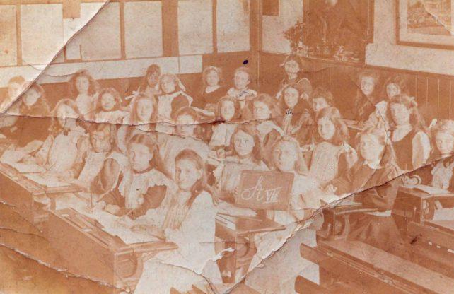 Class at girls school, High Street