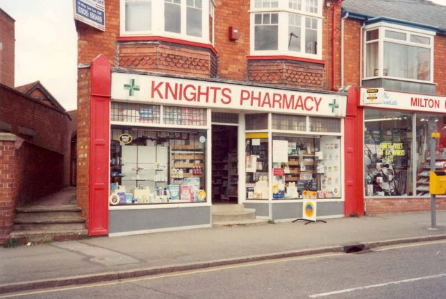 Knight's Pharmacy, 1 Victoria Rd.