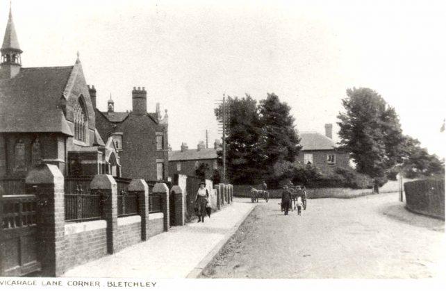 Vicarage Lane corner, Bletchley Road