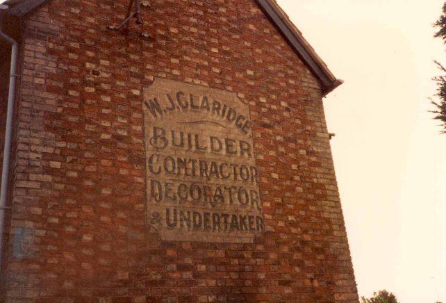 W.J. Claridge sign