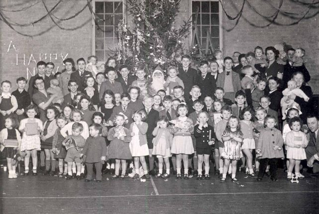 Christmas Party with many children