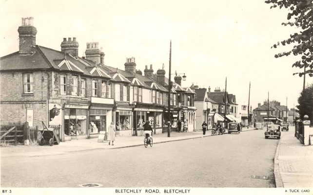 Bletchley Road with some shops