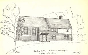 Sketch of Rectory Cottages, Bletchley