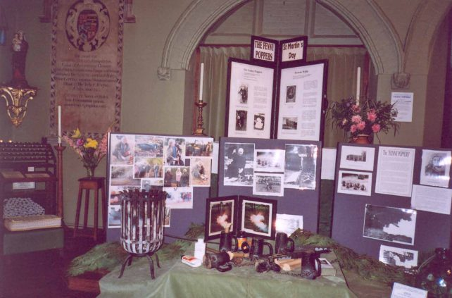 Fenny Poppers Display at St. Martin's church