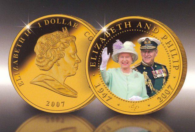 Queen Elizabeth coins - 50th wedding anniversary
