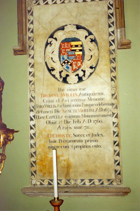 Browne Willis Memorial, St. Martin's Church