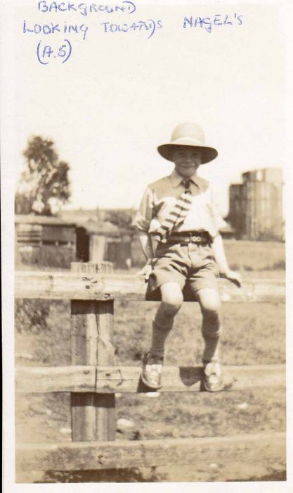 Boy on fence - Nagels in background