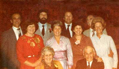 WEBB FAMILY REUNION TAKEN IN 1981 - BOB,MICK,JOHN,DICK, JANE,MOLLY,JUDY, BETT AND IN FRONT GRANNY AND PAPPY