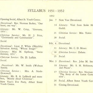 Guild Booklet 1951-1952