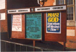 Notice Board outside church