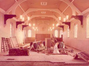 Church interior under renovation
