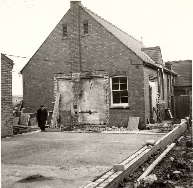 Building extension at rear of Church