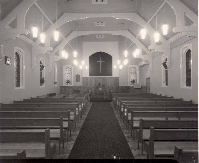 Church interior after alterations