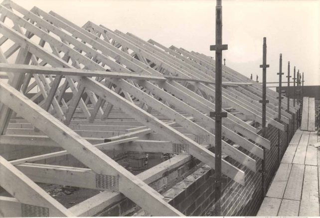 Building of Church hall roof