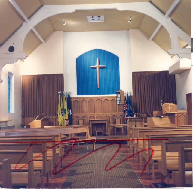 Church interior front view