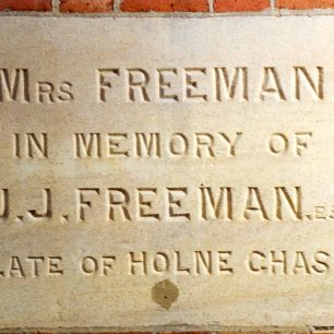 Freeman Memorial stone