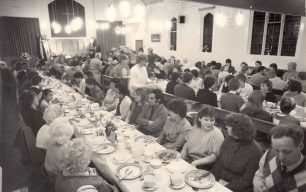 Family meal held in the church