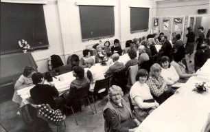 Family meal held in the church hall