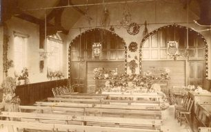 Interior of church at Harvest Festival