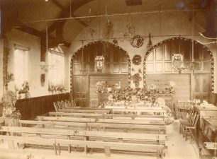 Interior of church at Harvest Festival