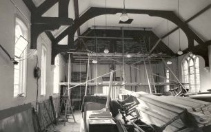 Church interior during refurbishment